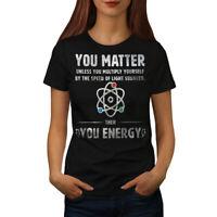 Wellcoda Physics Matter Science Womens T-shirt, Funny Casual Design Printed Tee