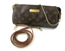 Louis Vuitton Bag Eva Monogram Shoulder Canvas Pochette Used Original 100%