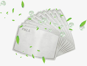10/50 PCS Face PM2.5 Activated Carbon Filter Replaceable Mask Pocket Filter
