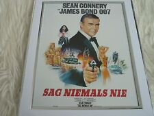 James bond 007 Collection Movie poster Tony nourman Framed german never say agai