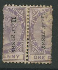 Dominica SG12 1883 2x 1/2d P14