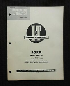 "1954 FORD ""MAJOR DIESEL EIADDN"" TRACTOR I & T SERVICE SHOP REPAIR MANUAL NICE"