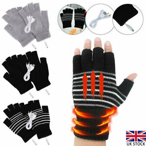 Men Women Electric Heated Gloves USB Rechargeable Insulated Warm Thermal Gloves