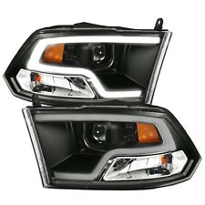 Anzo Projector Plank Style Headlights w/ Halo Black Amber For Ram 1500 2500 3500