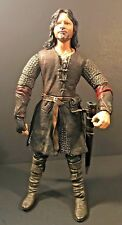 """Marvel 11"""" 2003 Lotr Lord Of The Rings, Aragorn Deluxe Poseable Action Figure"""