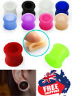 1pc Flexible Silicone Tunnels Stretchers Plugs Flesh Ear Body Jewellery 4mm-25mm