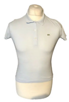 Women's Lacoste Polo Shirt Size 38 Blue Short Sleeve