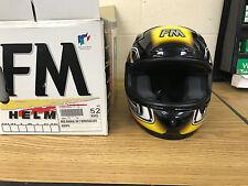 FM Radikal RA2 Helmet in Black, Yellow& Silver Size: 52/XXS FREE Mainland UK P&P