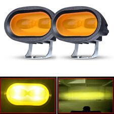 2X LED Yellow Driving Work Light Bar Spot Fog Pods Offroad Lamp Truck ATV 4WD