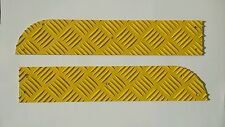 Land Rover Defender 90, Bumper Tread Plate Set, Gloss Yellow, Chequer Plate.