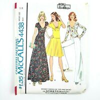 McCall's Patterns · 4438 · Size 12 Bust 34 · Care Free Misses Dress Top & Skirt