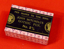 (PRL) JOHN MITCHELL GOTHIC 2 1/2  PENNINO PENNINI boîte PLUMES ENCRE INK VINTAGE