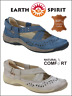 EARTH SPIRIT LITTLETON LADIES SUMMER SHOE NEW COMFORTABLE LEATHER ARCH SUPPORT