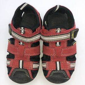 Pediped RED Leather Sandal Toddler 5.5 EASY ON & OFF FOR FAST CHANGES