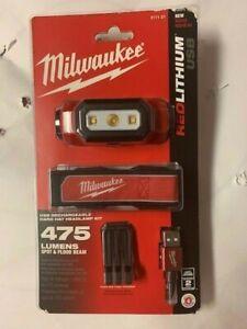 Milwaukee 2111-21 475-Lumen LED Rechargeable Hard Hat Headlamp