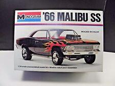 Monogram 1966 Chevy Malibu 427 SS model, 1/24 scale plastic kit &  Made in USA