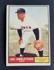 ORIGINAL1961 TOPPS SAN FRANCISCO GIANTS BASEBALL CARD #87 JOE AMALFITANO EXCELLE
