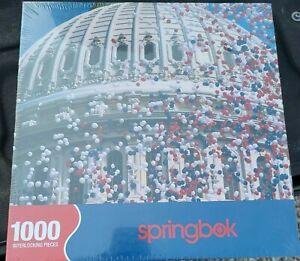 CAPITOL CELEBRATION Springbok 1000 Piece Puzzle 24x30 NEW SEALED USA America