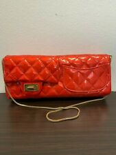 CLUTCH ROSSO CHANEL IN PELLE LUCIDA