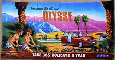Fiat Ulysse Small Beach Tiki Towel & Postcard Set Never Used Original Packaging