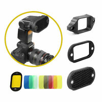 Selens Magnetic Honeycomb Grid, Grip ,Filter Kit For Flash Speedlite