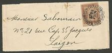 CHINA (INDO CHINA) 1904 NEWS-BAND WRAPPER TO SAIGON BEARING INDO-CHINA DUE