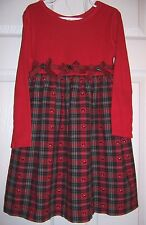 Pre-owned Dress byBonnie Jean size 6X Accent Bows with Schnauzer Dog Buttons
