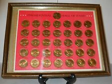THE PRESIDENTIAL HALL OF FAME BRONZE COIN COLLECTION, 1968, FRANKLIN MINT, GOOD!