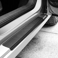 4Pcs 3D Carbon Fiber Car Door Sill Scuff Plate Cover Anti Scratch Sticker Decals