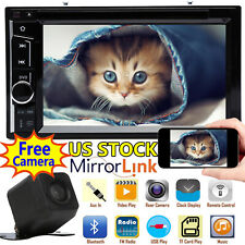 Double Din Car Stereo 6.2inch Radio CD DVD Player Mirror Link For GPS + Camera
