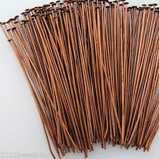Copper Alloy Metal Headpins / 2 Inch / 250 Pieces  23mm gauge  #0517