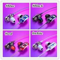 HIFI Super Bass Headset Earphone Dual Wired Mic Headphone Earbud 3.5mm Jack