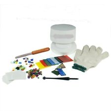 STAINED GLASS FUSING SUPPLIES PROFESSIONAL MICROWAVE KILN KIT 10 PIECE SET NEW!