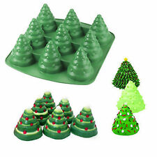 3d Christmas Tree Cake Mould Silicone Cookie Chocolate Baking Mold