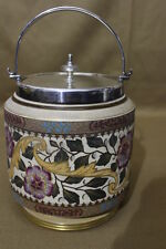 Late 19th Century Ceramic Painted Biscut Jar by Taylor, Tunnicliff & Co.