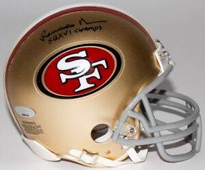 "Renaldo Nehemiah Signed 49ers Mini-Helmet Inscribed ""SBXVI Champs"" (Tristar) W.R"