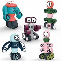 DigHealth Magnetic Robots Toy, 35 PCS Magnetic Building Blocks Set with Storage