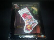 DIMENSIONS GOLD COLLECTION 8713 CHRISTMAS HOLIDAY HARMONY  CROSS STITCH STOCKING