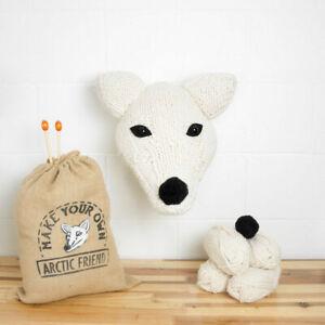 Faux Trophy Head Knitting Kits Arctic Fox, Dinosaurs