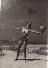 Ballspiel am Ostseestrand Sport Allemagne Photo Presse Vintage Argentique 1939