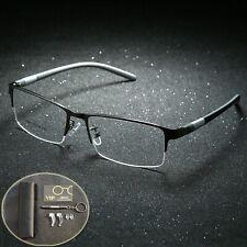 Men Glasses Frame Titanium Body Eyeglasses Clear Eye Lens Optical Spectacle