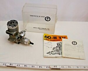 ENYA 60 III T.V. RC MODEL GAS AIRPLANE TETHER CAR ENGINE BOXED 1960s