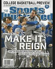 Sports Illustrated 2015 Kansas City Royals World Series Champs Newsstand Issue