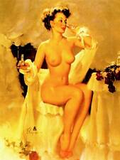 PORTRAIT PIN UP GIRL UNDRESSED BEAUTY FORM FIGURE ART PRINT POSTER BB8682