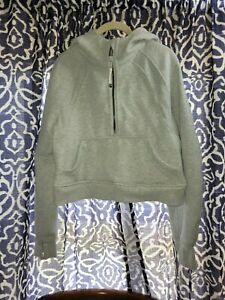 Lululemon Scuba Oversized 1/2 Zip Hoodie (Ultra Light grey) xs/s