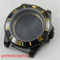 PVD Plated 40mm Watch Case with Ceramic Bezel Fit ETA 2836 MIYOTA Movement