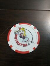 2020 Mardi Gras Muff-A-Lottas Dance Troupe Group Red Poker Chip Doubloon