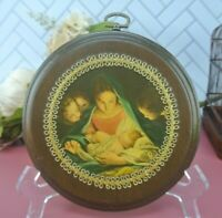 Vintage Wood Plaque with Marie and Jesus