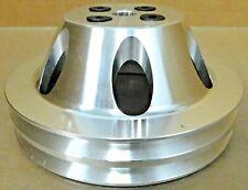 Transdapt 8875 SB Chevy Aluminum Short Water Pump Pulley, 2 Grove, V-Belt
