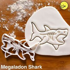 Megalodon Shark cookie cutter | extinct attack beach birthday party surf ocean